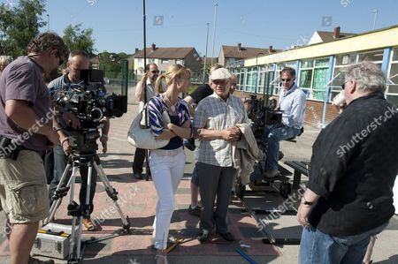 Behind the scenes, filming, camera, Sally Oliver as Kerry and Sir David Jason as Don
