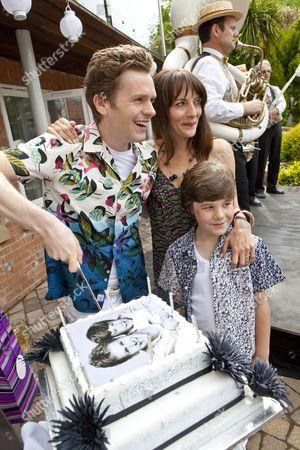 Drew Blackall as Cameron, Anna Wilson Jones as Christina and Shaun Evans as David.