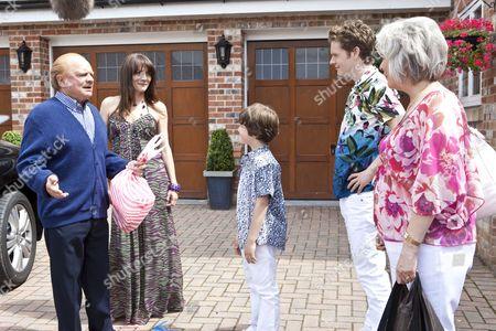 Stock Image of Anna Wilson Jones as Christina, Shaun Evans as David and Drew Blackall as Cameron, David Jason as Don and Alison Steadman.