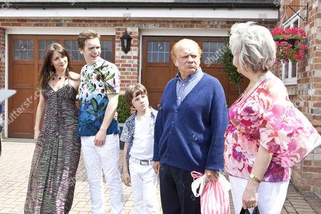 Anna Wilson Jones as Christina, Shaun Evans as David and Drew Blackall as Cameron, David Jason as Don and Alison Steadman.