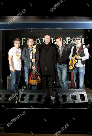 Stock Picture of Paul Morley (c) with The Smyths - Tom Harris, Simon Hudson, Graham Sampson and Andy Munro