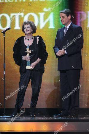 Claudia Cardinale and Alexander Avdeev