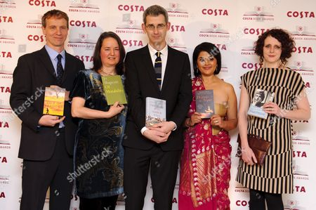 Stock Picture of The Finalists - Jason Wallace, Jo Shapcott, Edmund De Waal, Kishwar Desai and Maggie O'Farrell