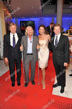 Karl-Heinz Koegel, Sir Richard Branson, Dagmar Koegel and Guido Westerwelle