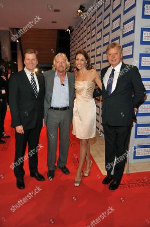 Guido Westerwelle, Sir Richard Branson, Dagmar Koegel and Karl-Heinz Koegel