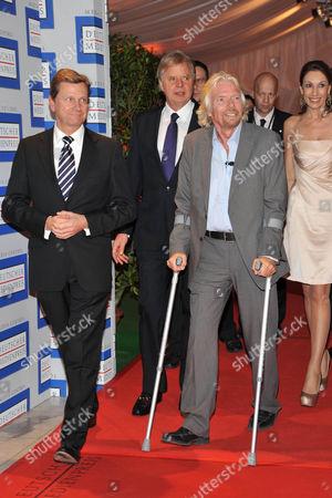 Guido Westerwelle, Karl-Heinz Koegel, Sir Richard Branson and Dagmar Koegel