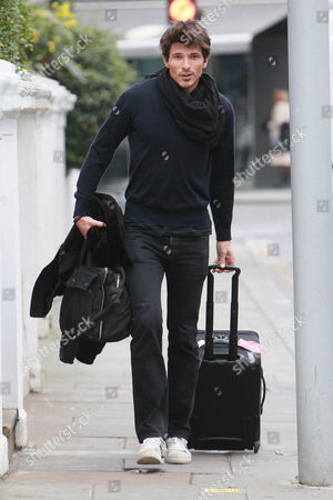 Editorial picture of Andres Velencoso Segura leaving Kylie Minogue's home, London, Britain - 26 Jan 2011