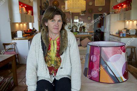 Lamp shade designer, Helena Barrowcliff