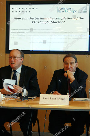 Stock Image of Malcolm Harbour MEP and Leon Brittan