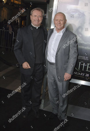 Stock Picture of Father Gary Thomas and Sir Anthony Hopkins