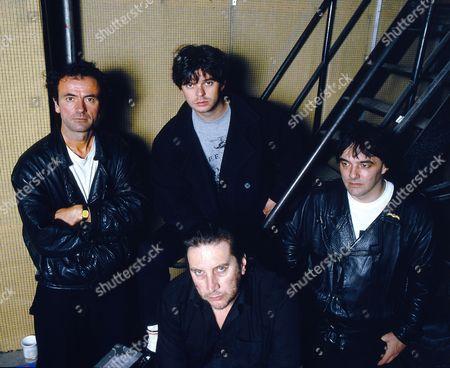 The Stranglers - clockwise - Hugh Cornwell, Jean-Jacques Burnel, Dave Greenfield and Jet Black