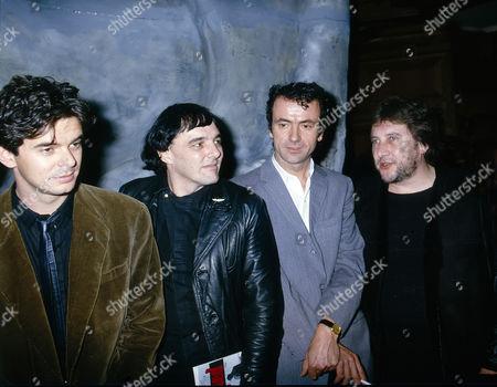 The Stranglers - Jean-Jacques Burnel, Dave Greenfield, Hugh Cornwell and Jet Black