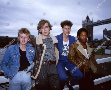Big Country - Bruce Watson, Mark Brzezicki, Stuart Adamson and Tony Butler, London, Britain