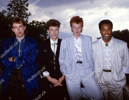 Big Country - Mark Brzezicki, Stuart Adamson, Bruce Watson and Tony Butler at the Montreux Festival