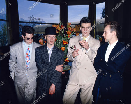 Stock Picture of Blow Monkeys - Tony Kiley, Mick Anker, Dr Robert and Neville Henry at the Montreux Festival