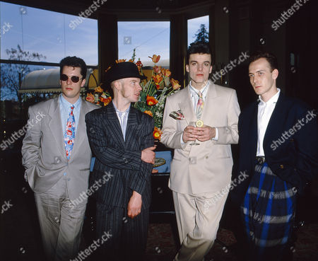 Stock Photo of Blow Monkeys - Tony Kiley, Mick Anker, Dr Robert and Neville Henry at the Montreux Festival