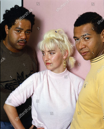 Stock Image of Carmel - Carmel McCourt with drummer Gerry Darby and bassist Jim Parris