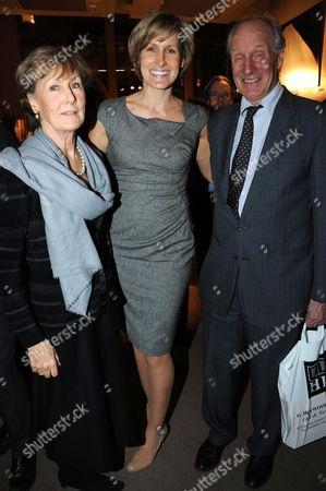 Stock Photo of Santa Montefiore and parents Charles Palmer-Tomkinson and Patricia Palmer-Tomkinson