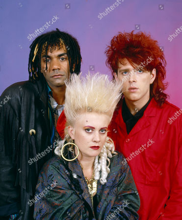 Stock Picture of Thompson Twins - Joe Leeway, Alannah Currie and Tom Bailey
