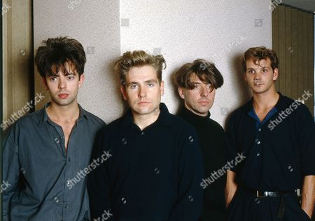 Stock Photo of Echo and The Bunnymen - Ian McCulloch, Pete de Freitas, Will Sergeant and Les Pattison