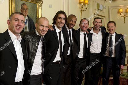 Nigel Winterburn, Freddie Ljungberg, Robert Pires, Thierry Henry, Ray Parlour, Martin Keown and Lee Dixon