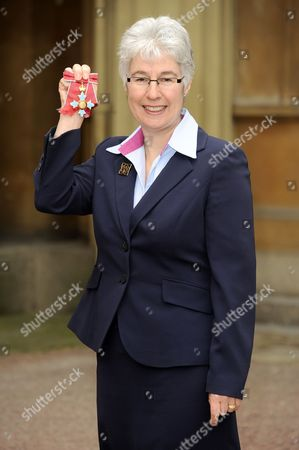 Stock Picture of Liz Burnley, Chief Guide, Girlguiding UK awarded a CBE for services to Young People