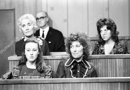 Joan Heath as Miss Agnes Baker, Jane Carr as Miss Gillian Heys and Stella Tanner as Mrs Heys