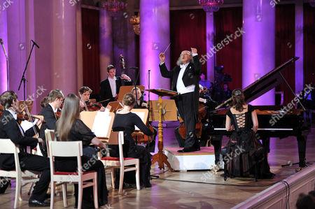Stock Photo of Arkady Berin, Polina Osetinskaya and the International Symphony Orchestra of Germany