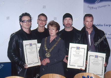 Editorial photo of U2 receive the Freedom of the City, Dublin, Ireland - 18 Mar 2000