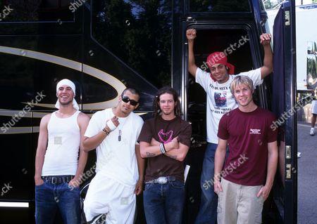 O Town - Ashley Parker Angel, Dan Miller, Jacob Underwood, Eric Michael Estrada and Trevor Penick at the Kings Dominion Amusement Park, Virginia
