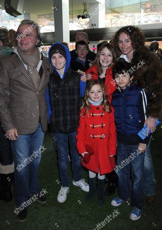Rafi Manoukian, wife Jo Manoukian (R) and family