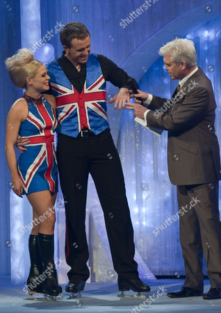 Dominic Cork with Dancing partner Alexandra Schauman and presenter Phillip Schofield