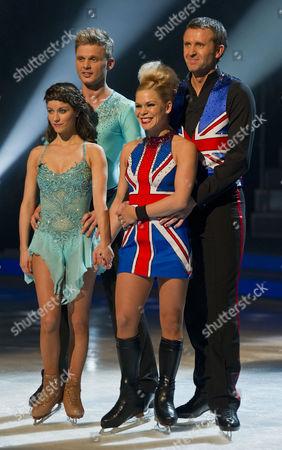 Jeff Brazier and dancing partner Isabelle Gauthier and Dominic Cork with Dancing partner Alexandra Schauman