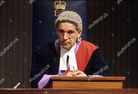 Stock Image of John Woodnutt as Judge Weightman