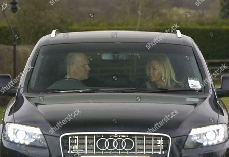 Andy Gray and girlfriend Rachel Lewis leaving his home