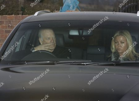 Editorial picture of Andy Gray and girlfriend Rachel Lewis leaving his home in Warwickshire, Britain - 29 Jan 2011