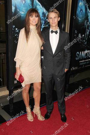 Stock Image of Alice Parkinson and Rhys Wakefield