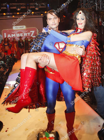 Marcus Schenkenberg as Superman with Alisar Ailabouni as Supergirl