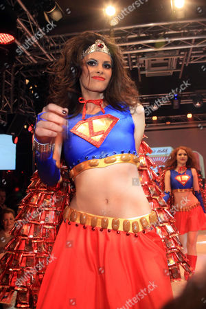 Stock Photo of Alisar Ailabouni as Supergirl