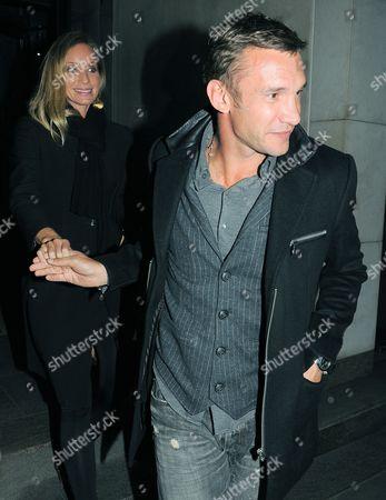 Stock Photo of Kristen Pazik and Andriy Shevchenko