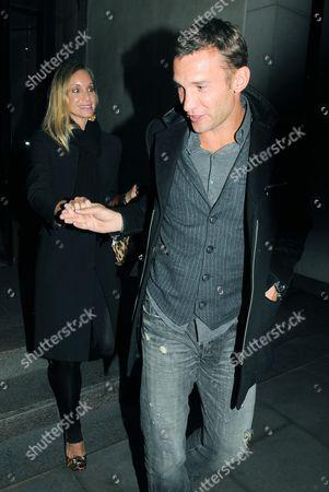 Editorial picture of Andriy Shevchenko and Kristen Pazik at the Nobu Park Lane restaurant, London, Britain - 01 Feb 2011