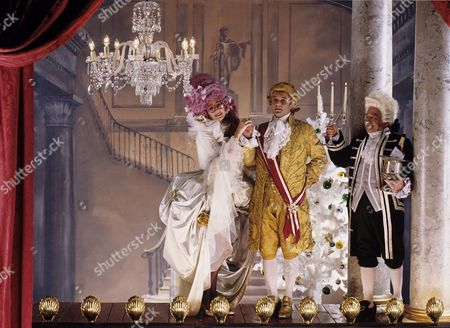 Cinderella set (not produced), with Su Pollard, Karl Howman and Kenneth Connor