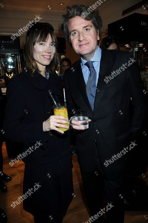 Stock Photo of Camilla Rutherford and Francois Delage, CEO of De Beers