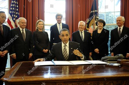 Editorial picture of US President Obama Signing New START Treaty, Washington D.C, America - 02 Feb 2011