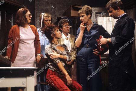 Anna Karen, Gillian Taylforth, Diane Langton, Deddie Davies, Miriam Karlin and Peter Jones
