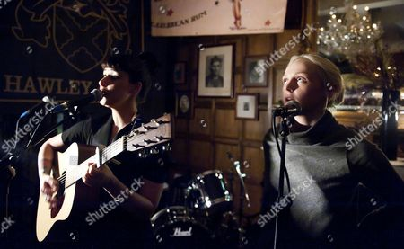 Editorial photo of Louise Hull and Laura Marling in concert at the Hawley Arms, London, Britain - 01 Feb 2011