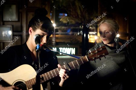 Editorial picture of Louise Hull and Laura Marling in concert at the Hawley Arms, London, Britain - 01 Feb 2011