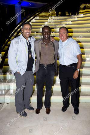 Daley Thompson, Dwight Yorke and Hugo Porta