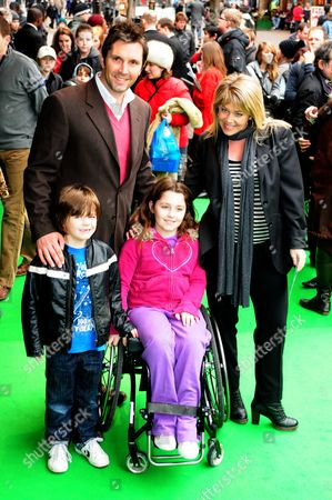 Lucy Alexander, husband Stewart Castledine, son Leo and daughter Kitty