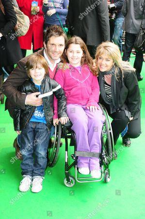 Lucy Alexander, husband Stewart Castledine, son Leo and daughter Kitty